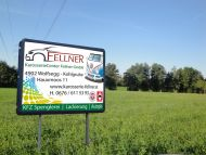 PVC Werbebanner Karosseri Center Fellner Wolfsegg